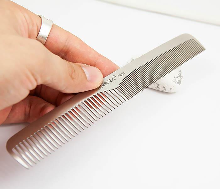 RAZ347 Стальная расческа для волос с разными зубцами фото 03