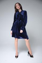 Велюровое платье до колена магазин