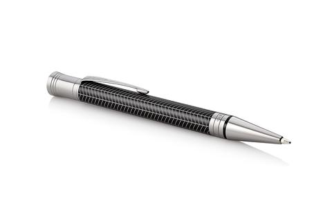 Шариковая ручка Parker Duofold Prestige Centennial, Black Chevron CT, MBlack