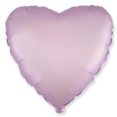 Шар сердце сатин сиреневый