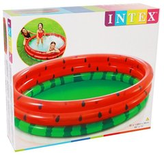 Бассейн надувной детский INTEX красно-зеленый Арбуз диаметр 168 см 58448NP