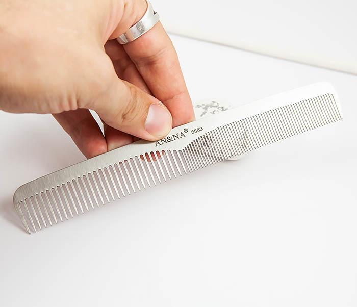 RAZ347 Стальная расческа для волос с разными зубцами фото 04