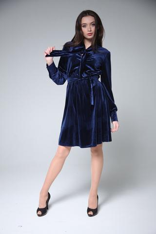 Велюровое платье до колена интернет магазин