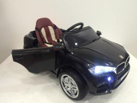 Детский электромобиль Rivertoys BMW O006OO-VIP-BLACK сиденье кожа