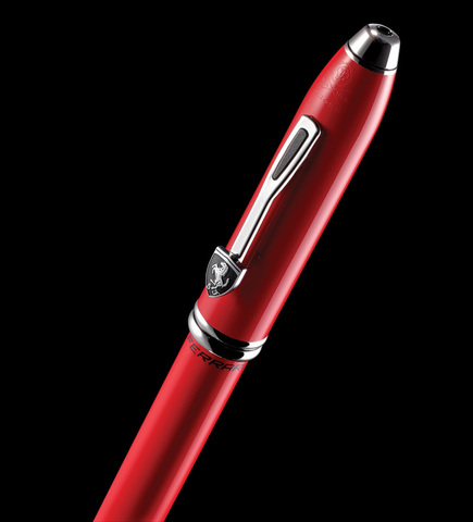 Cross Selectip Townsend - Ferrari Glossy Rosso Corsa Red Lacquer/Rhodium, ручка-роллер123