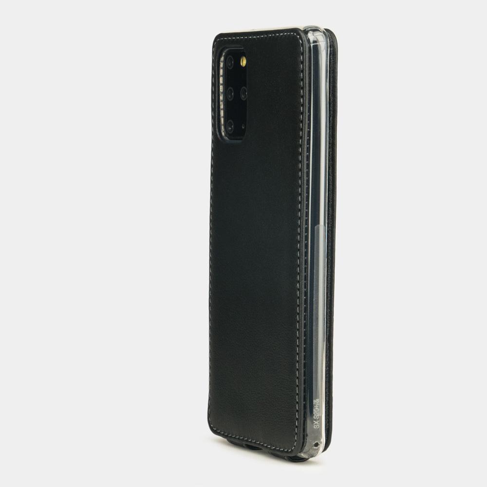 Чехол для Samsung Galaxy S20+ из натуральной кожи теленка, черного цвета