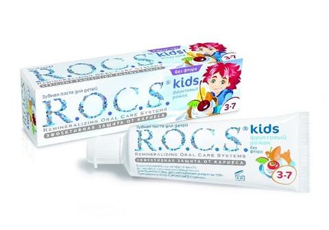 Детская зубная паста R.O.C.S. Kids 3-7 (Фруктовый рожок)