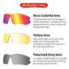 Очки солнцезащитные XQ548, (чёрно-жёлтые / синие revo) +2 доп. линзы