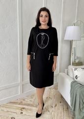 Кармен. Оригінальна сукня зі стразами pluse size. Чорний