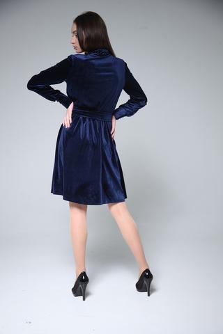 Велюровое платье до колена оптом