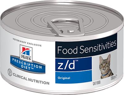 Влажные корма Ветеринарный корм для кошек Hill`s Prescription Diet z/d,  лечение острых пищевых  аллергий зд.png