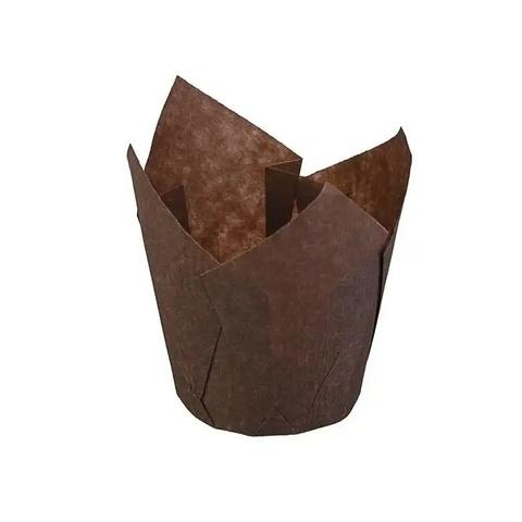 Форма бумажная Тюльпан Коричневая 50×80мм (20шт)