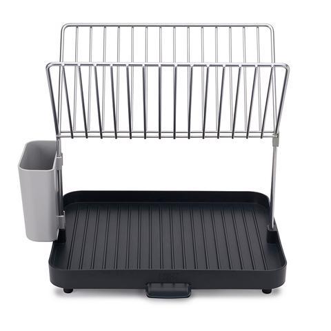 Сушилка для посуды и столовых приборов 2-уровневая со сливом Y-rack серая