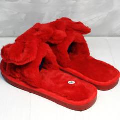 Комнатные тапочки женские красные Yes Mile A-08 Red Bow