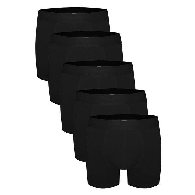 Трусы мужские боксеры набор 5в1 черные DARKZONE DZN5555SY