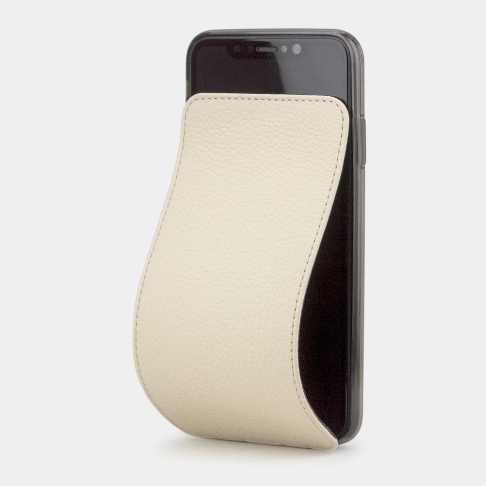 Чехол для iPhone XS Max из натуральной кожи теленка, молочного цвета