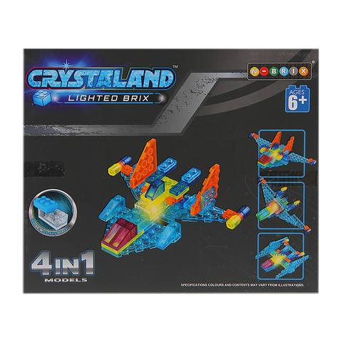 Светящийся конструктор Crystaland «Космический истребитель», 4 в 1