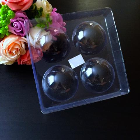 Пластиковая форма для шоколада ср. ПОЛУСФЕРЫ 4в1 Диаметр 70мм.