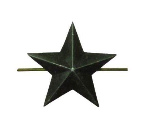 Звезда на погоны мет. 13 мм защ.