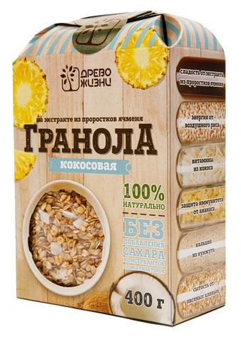 Гранола Кокосовая с ананасом, без сахара 400 г