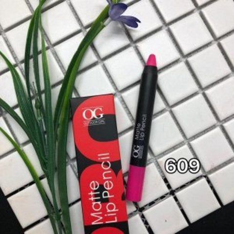 OG-FP3011B Помада-карандаш тон 609 ярко-розовый МАТОВАЯ Matte Lip Pencil PRO