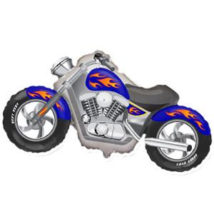 Фольгированный шар Мотоцикл синий 57см X 115см