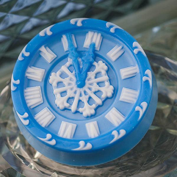 Мыло Часы новогодние. Форма пластиковая