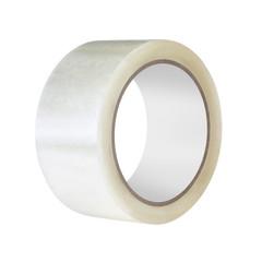 Скотч клейкая лента упаковочная прозрачная 48 мм х 100 м толщина 45 мкм