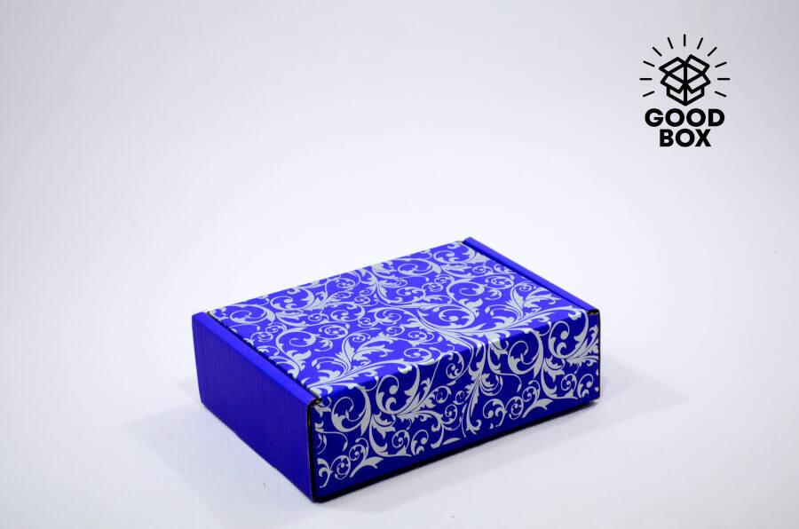 Коробка шкатулка синяя купить в Алматы
