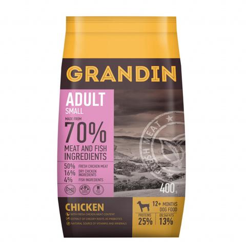 3 кг. Grandin Adult Small корм для взрослых собак мелких пород, с курицей