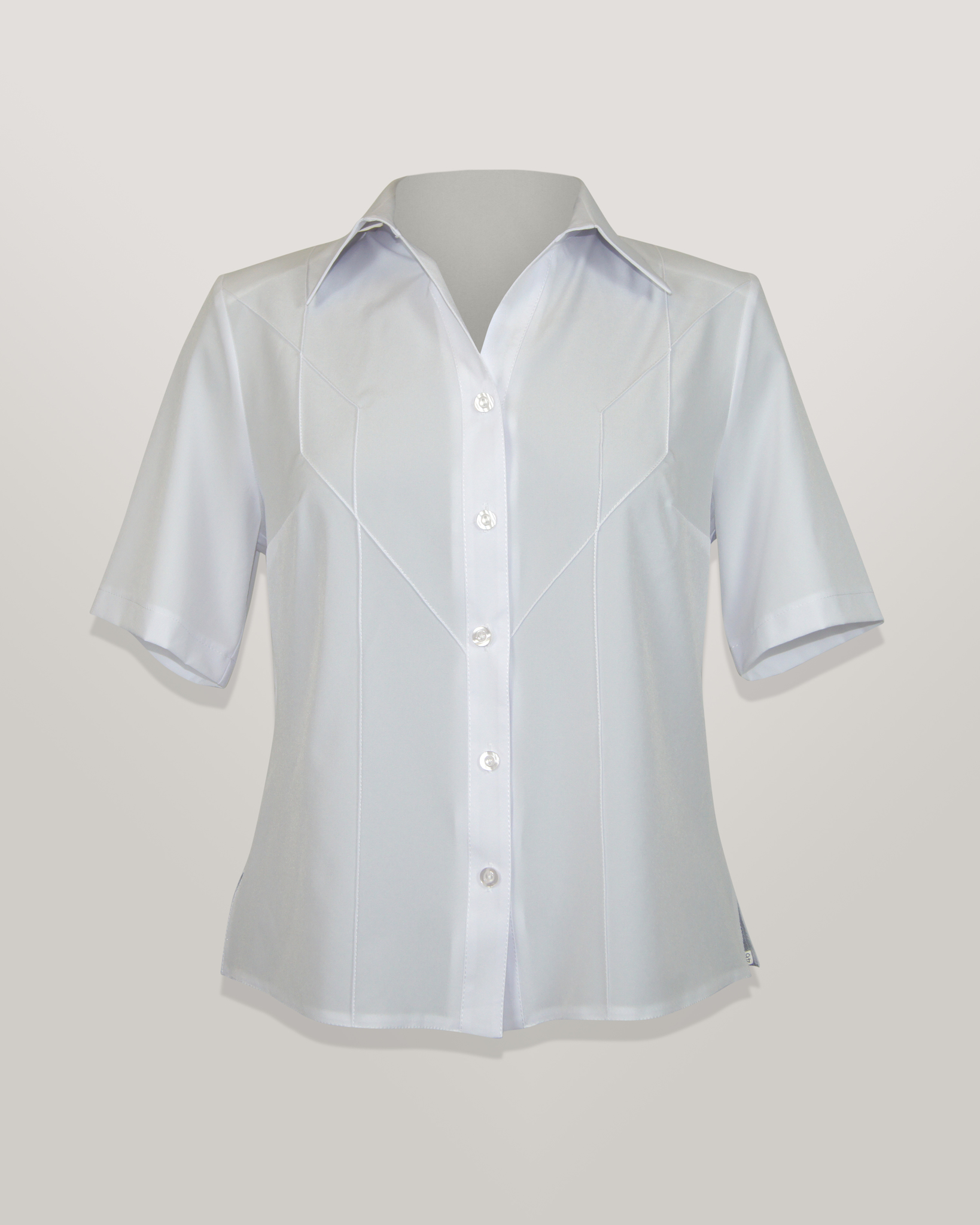 Блузка Jotex рубашка рельеф однотон.