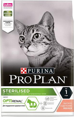 Сухой корм Purina Pro Plan для стерилизованных кошек и кастрированных котов, лосось