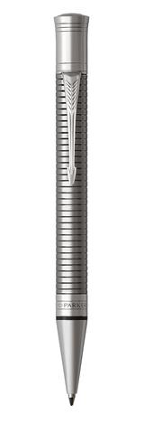 Шариковая ручка Parker Duofold Prestige Centennial, Ruthenium Chiselled CT, MBlack123