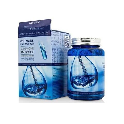 Farm Stay Collagen & Hyaluronic Acid All-in-One Ampoule омолаживающая ампула с коллагеном и гиалуроновой кислотой