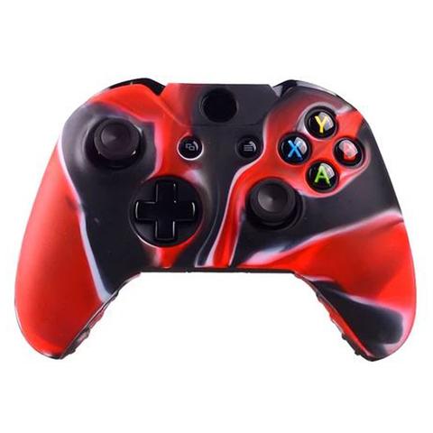 Чехол для геймпада (Xbox One, камуфляж черно-красный)