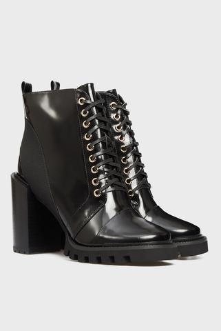 Женские черные кожаные ботильоны Diotima PRPY