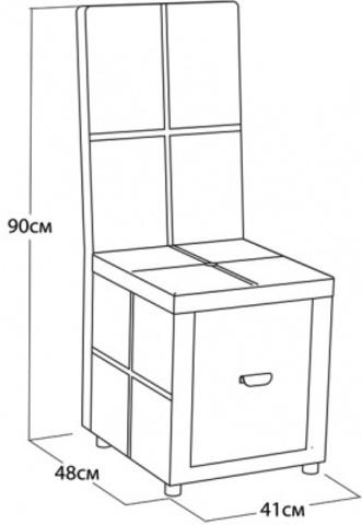 Пуф со спинкой и ящиком Орматек Orma Soft 2