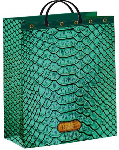 Подарочные пакеты 30х40+10 из мягкого пластика Питон