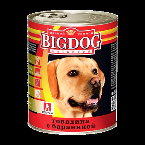 Зоогурман Big dog Консервы для собак с говядиной и бараниной (Банка)