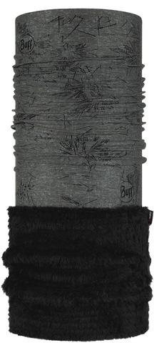 Теплый шарф-труба трансформер с блестками Buff Polar Thermal Chic Ayame Black фото 1