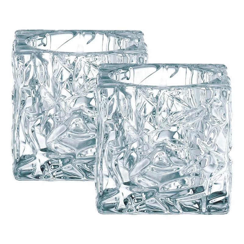 Хрустальные подсвечники диаметр 2шт,диаметр 7см,Ice Cube, Nachtmann