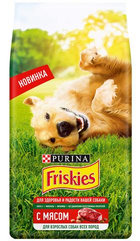 Friskies Сухой корм для взрослых собак с мясом