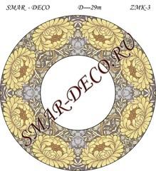 Эскиз для росписи, Зеркало диаметр 29см, SMAR-zmk-3