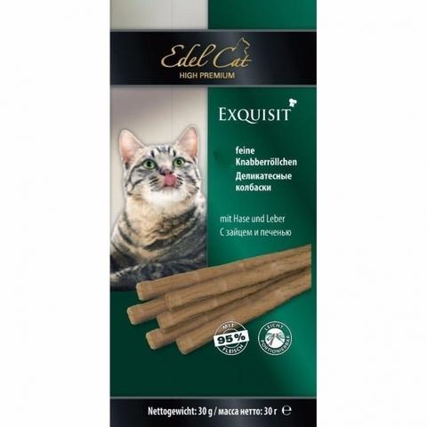 Лакомство Edel Cat для кошек. Жевательные колбаски с зайцем и печенью 1 уп