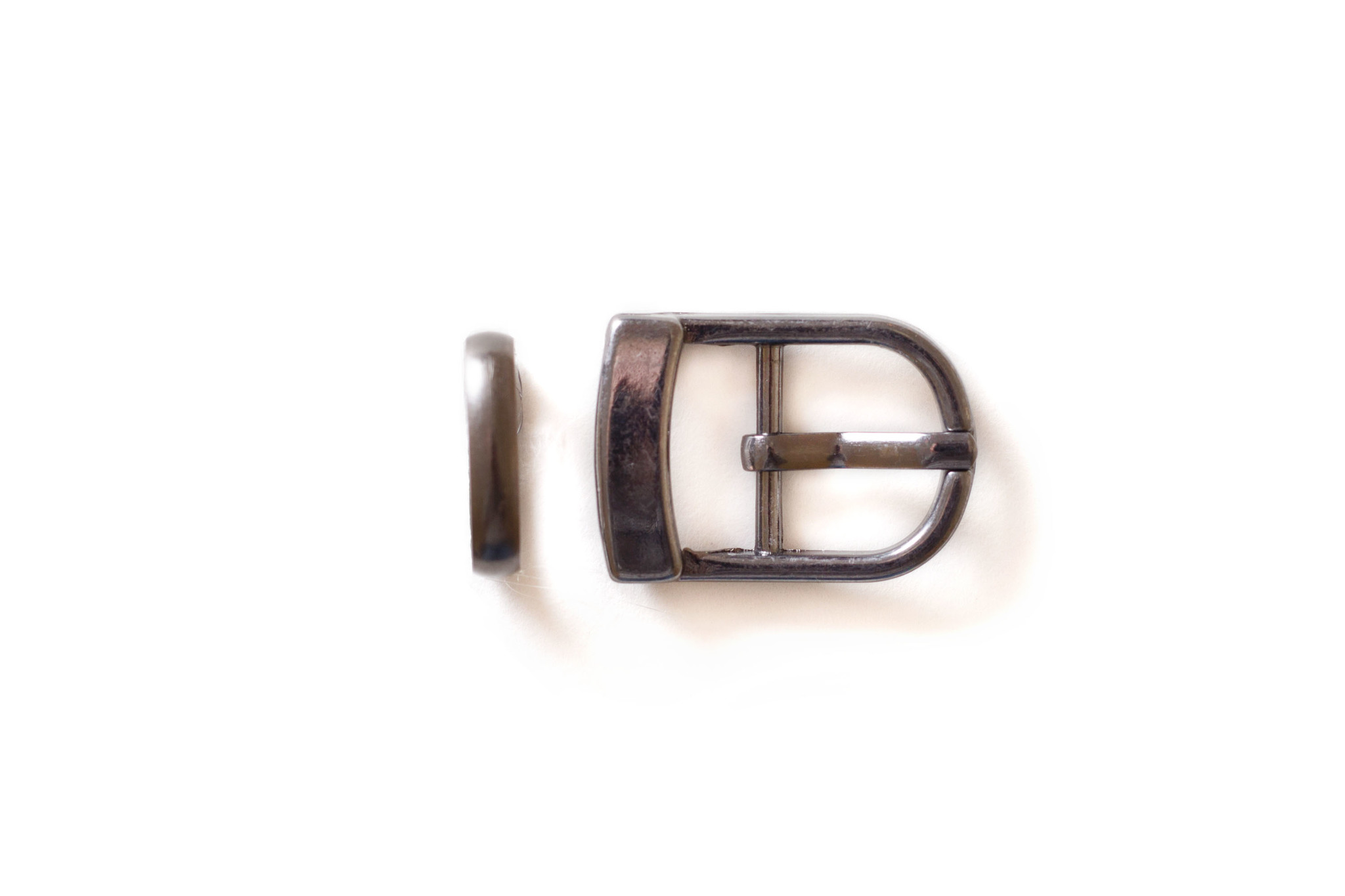 Пряжка со шлевкой 15 мм, темный никель