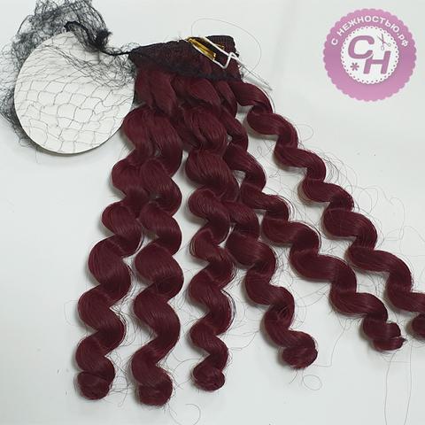 Волосы для кукол, трессы локоны Premium, 19 см*1 метр.