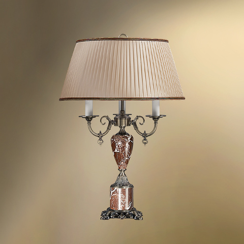 Настольная лампа с абажуром 44-08.57/3057 ТАМЕРЛАН