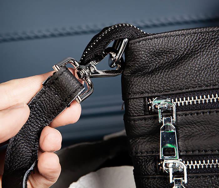 BAG538-1 Мужская сумка планшет с ремнем через плечо фото 06