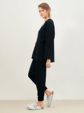 Женский кардиган черного цвета из вискозы - фото 4
