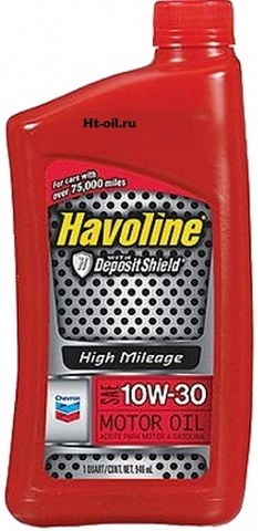 HAVOLINE HIGH MILEAGE 10W-30 моторное масло для бензиновых двигателей Chevron (1 литр)